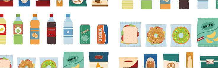 Snacks illustrations